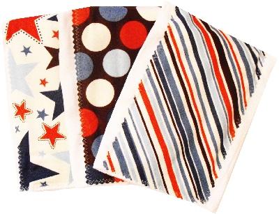 Blue All Star burp cloth bundle