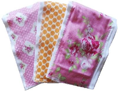 Pink Darla burp cloth bundle