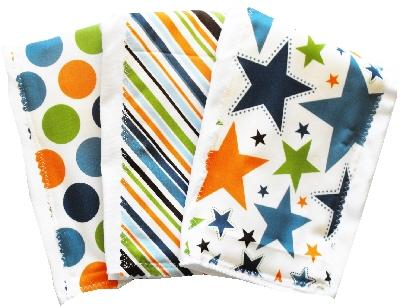 Orange All Star burp cloth bundle