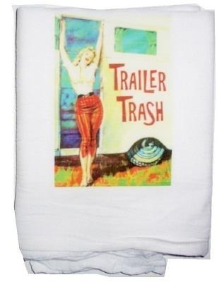 Trailer trash  tea towel