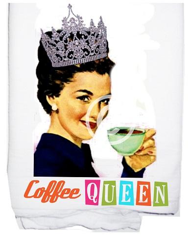Coffee Queen tea towel