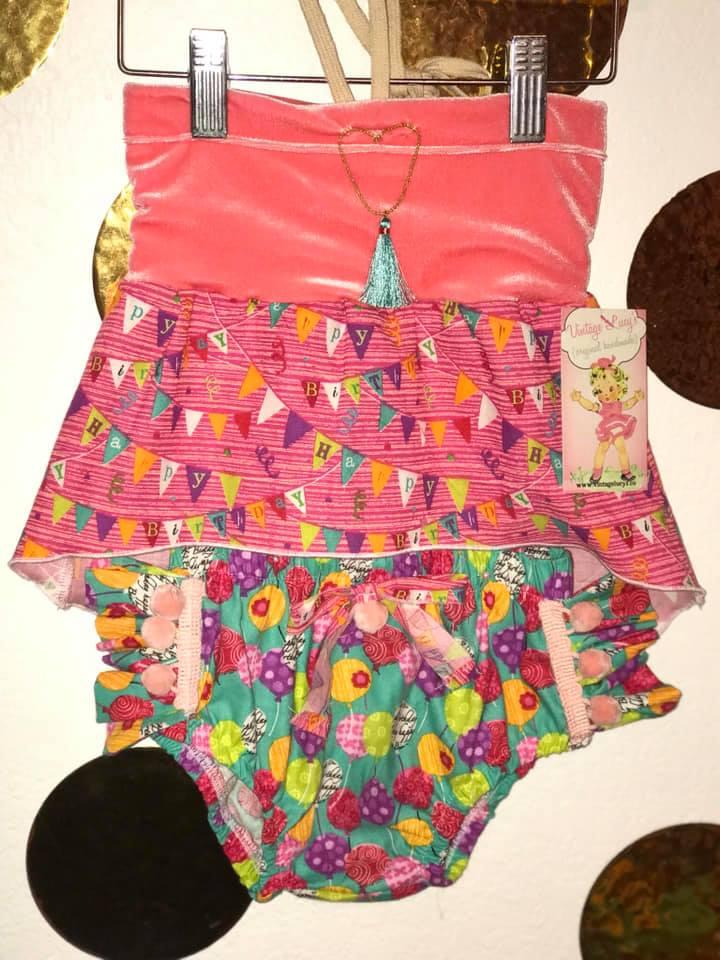 Happy Birthday Pom Pom Outfit