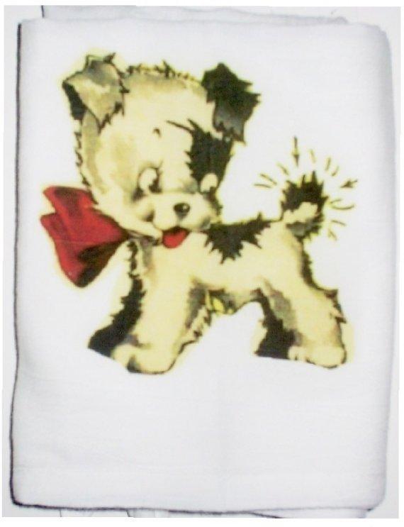 Kewpie puppy kitchen  tea towel