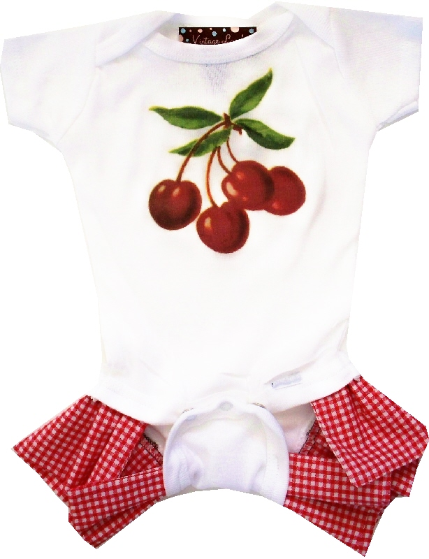 Yummy Cherries ruffled romper