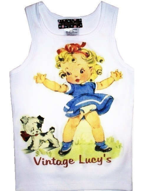 Vintage Lucys girl and dog shirt
